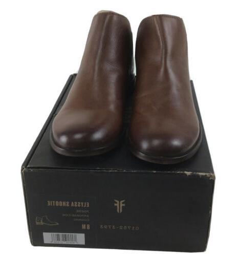 elyssa shootie womens brown leather slip on