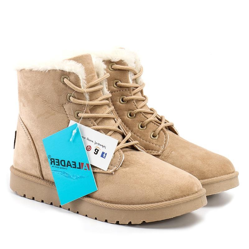 <font><b>ALEADER</b></font> Fashion <font><b>Boots</b></font> Suede Fur Lightweight <font><b>Boots</b></font> <font><b>Snow</b></font> Shoes