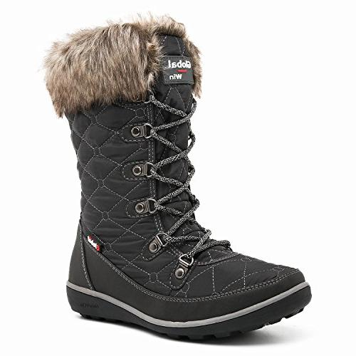 GLOBALWIN Women's 1731 Winter Waterproof Boots Women's, 1731Grey)