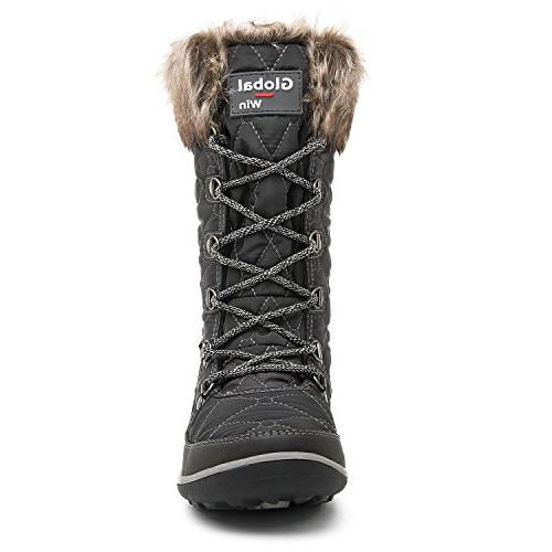 GLOBALWIN 1731 Waterproof Boots Women's, 1731Grey)
