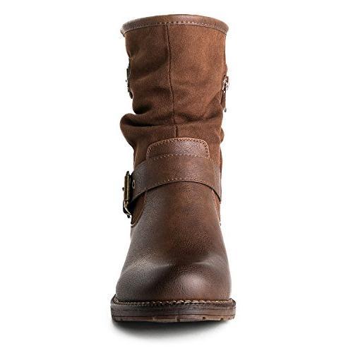 Globalwin Women's Brwon Fashion Boots 7.5M