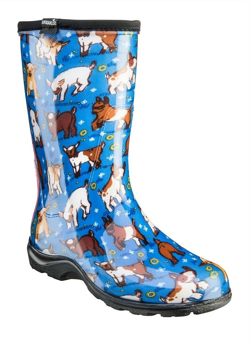 goat blue rain and garden waterproof boots