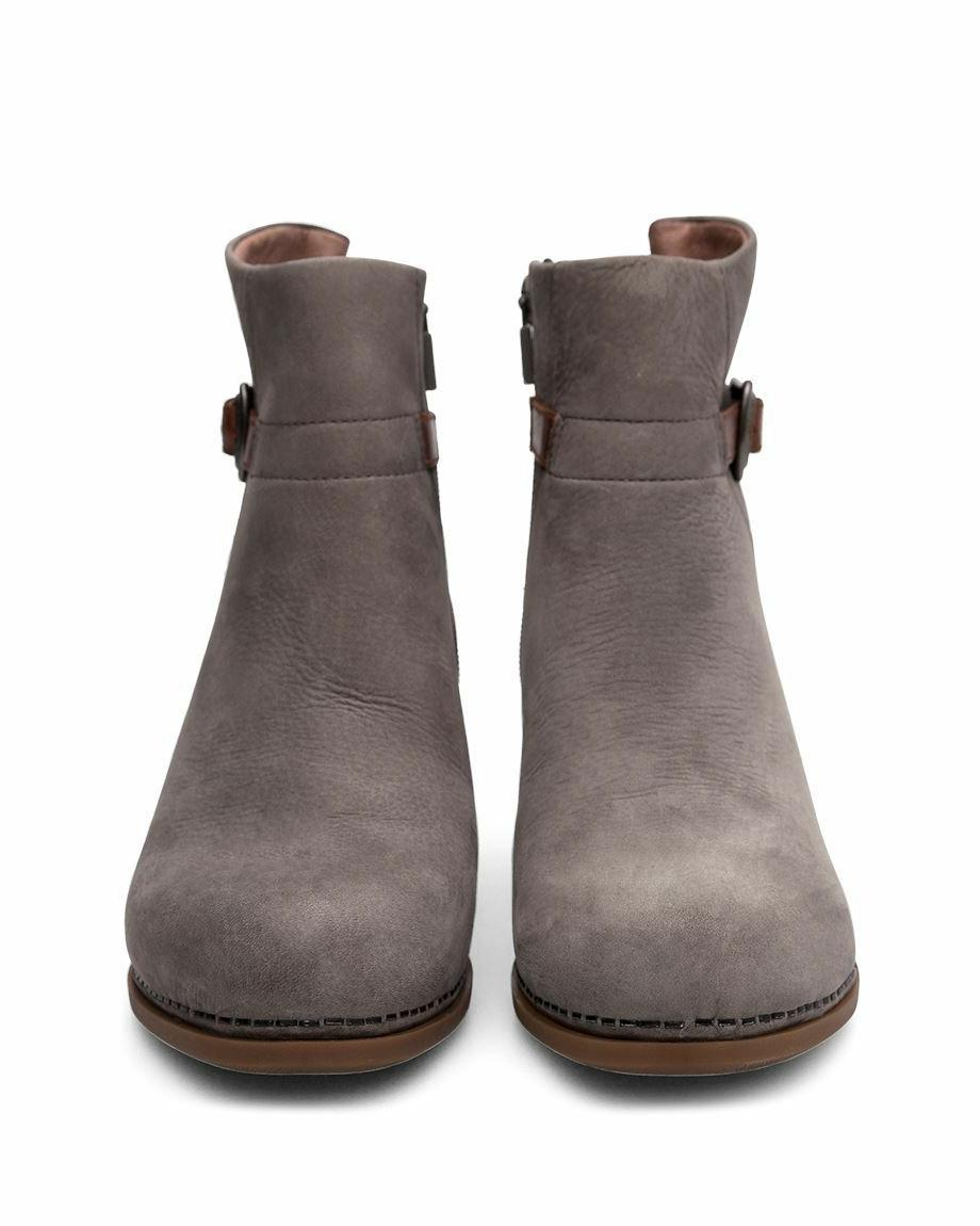 Dansko HARTLEY Grey Womens Nubuck Resistant Ankle Boots