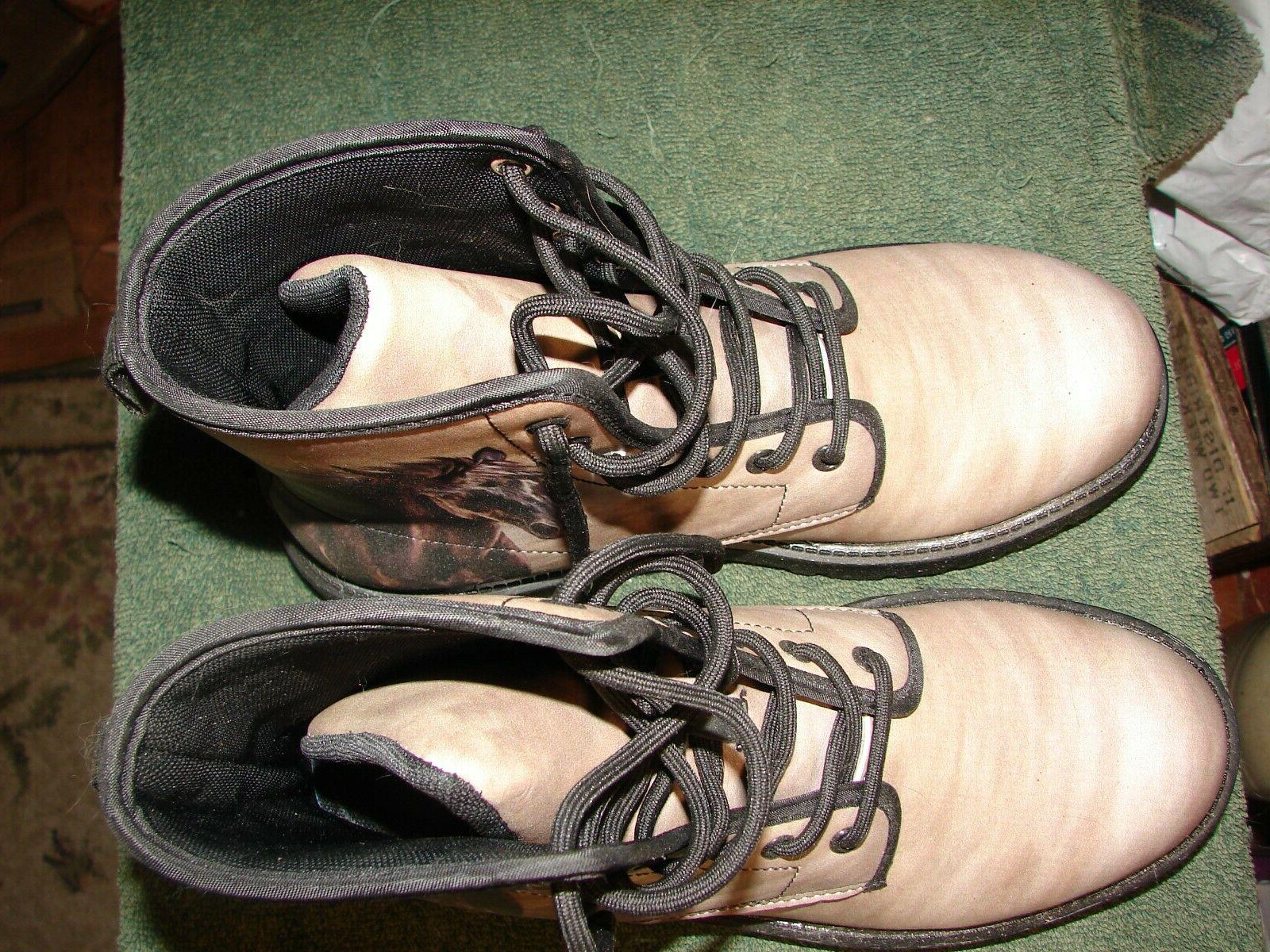 HORSE SIZE 8 LEATHER high top BRAND NEW. HORSE