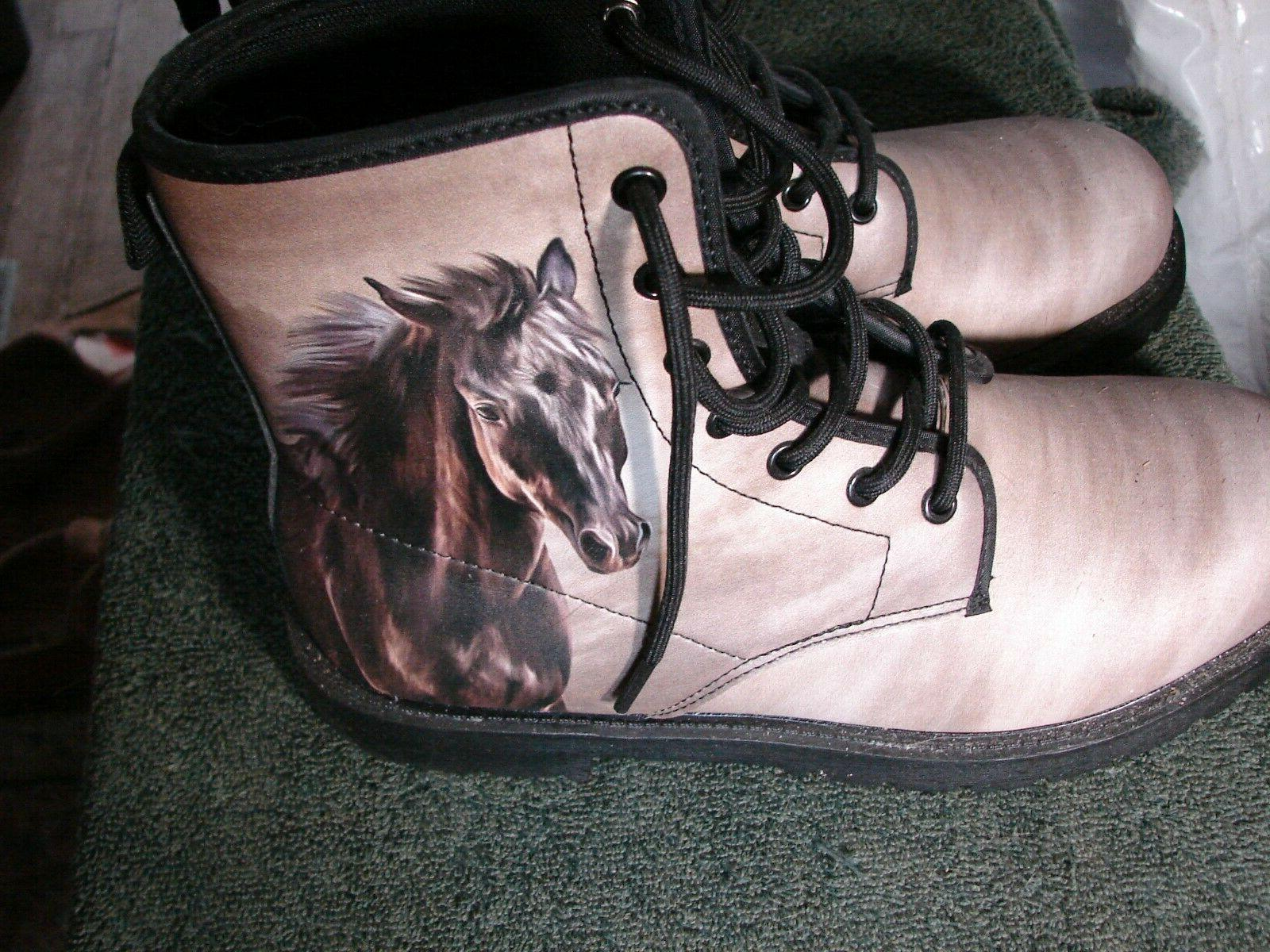 HORSE HEAD SIZE high top NEW. HORSE