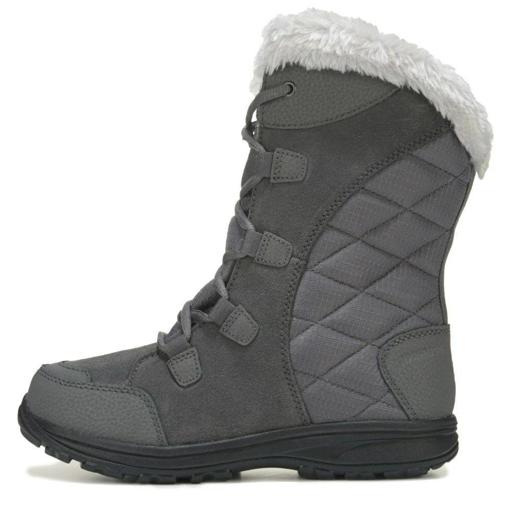 Columbia Maiden II Fur Lace-Up Women's Winter Snow Boots Shale