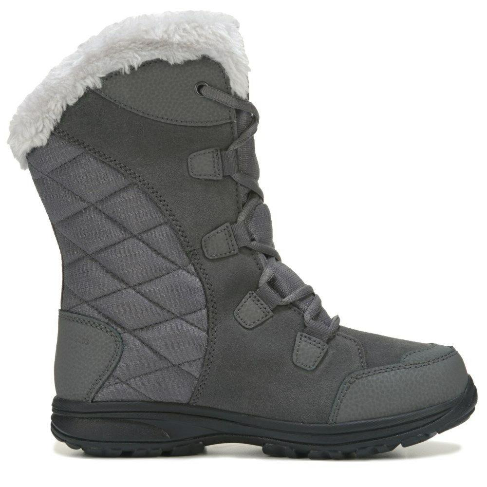 Columbia Maiden II Fur Lace-Up Winter Snow Boots Shale