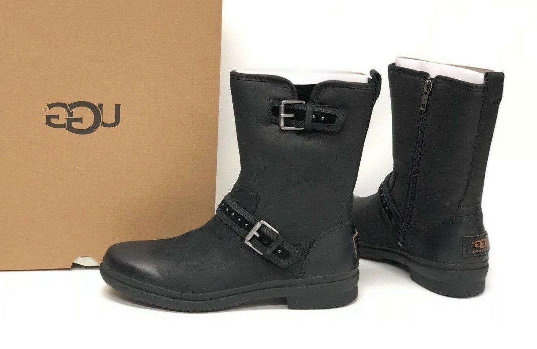 Ugg Australia Jenise Black Stud Boots 1018997 Waterproof WP