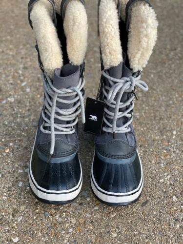 Sorel Joan Shearling Winter Boot Dark Women's Size