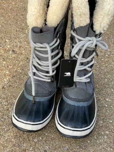 Sorel Shearling Snow Dark Grey Women's Size