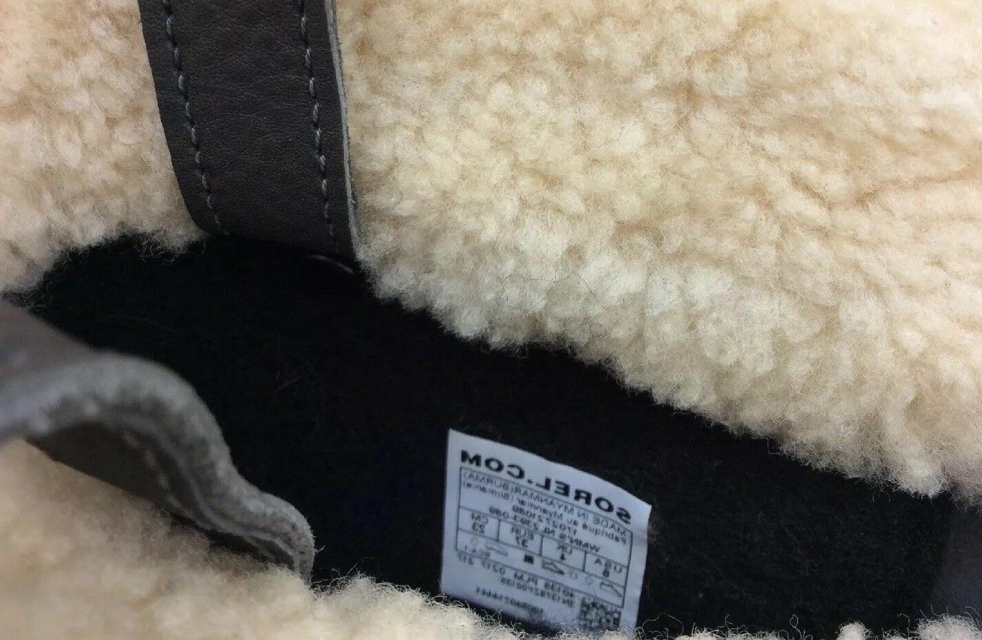 Shearling Winter Boot Dark Grey Size
