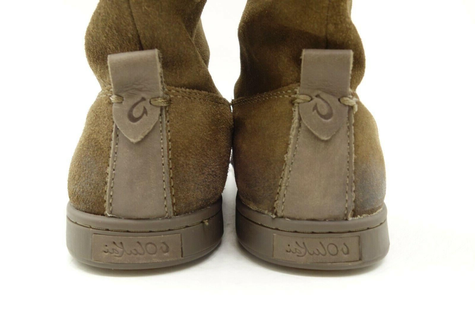 Olukai Moe Tassel Bow Leather Pull On Ankle Boots Women's 8