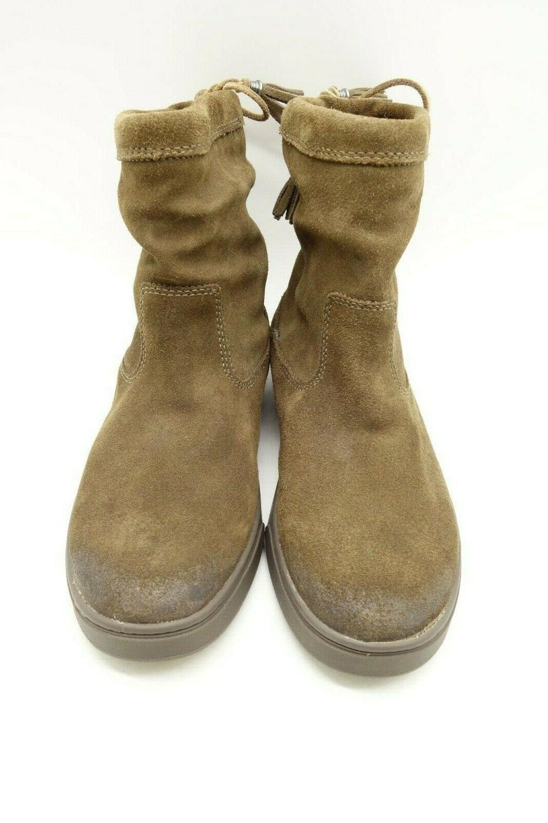 Olukai Kapa Tassel Leather Pull On Ankle Boots Shoes Women's