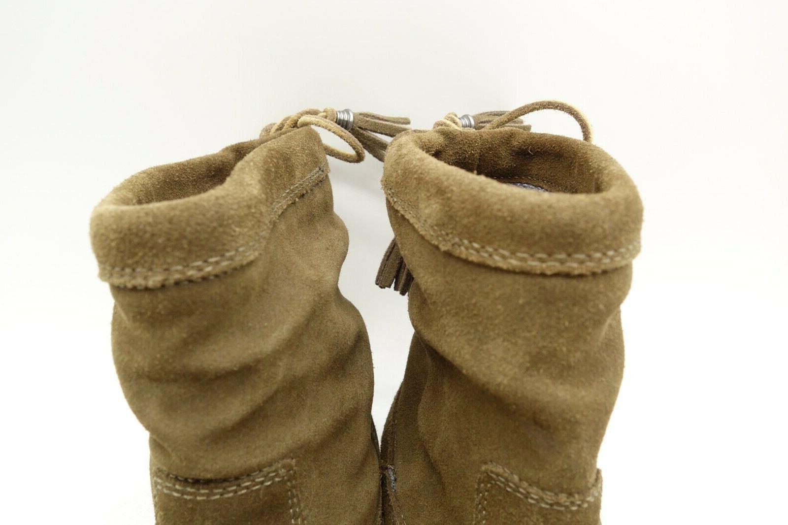 Olukai Kapa Tassel Leather On Boots Shoes Women's