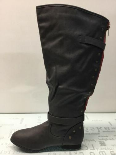 knee high boots size 11 wide calf