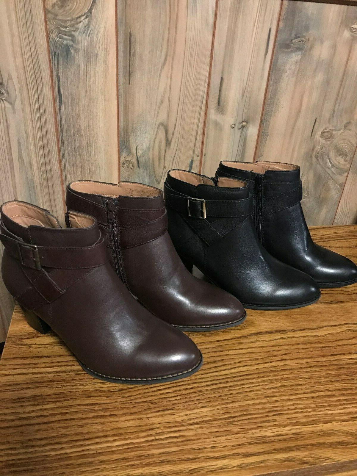 ladies ankle boots upright trinity leather booties