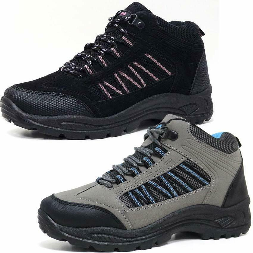 Ladies Hiking Boots Womens Girls Trail Trekking Walking Trai