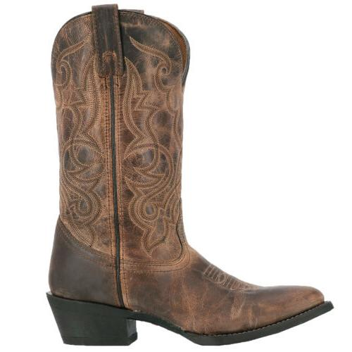 Laredo Womens Cowboy Boots Leather Round