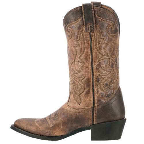 Laredo Cowboy Leather Round Toe Tan