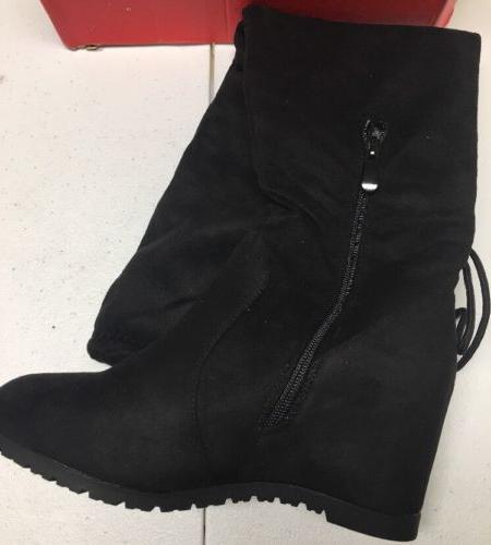 Dream Pairs LEGGY Womens Knee High Boots Black Size 6.5US/37