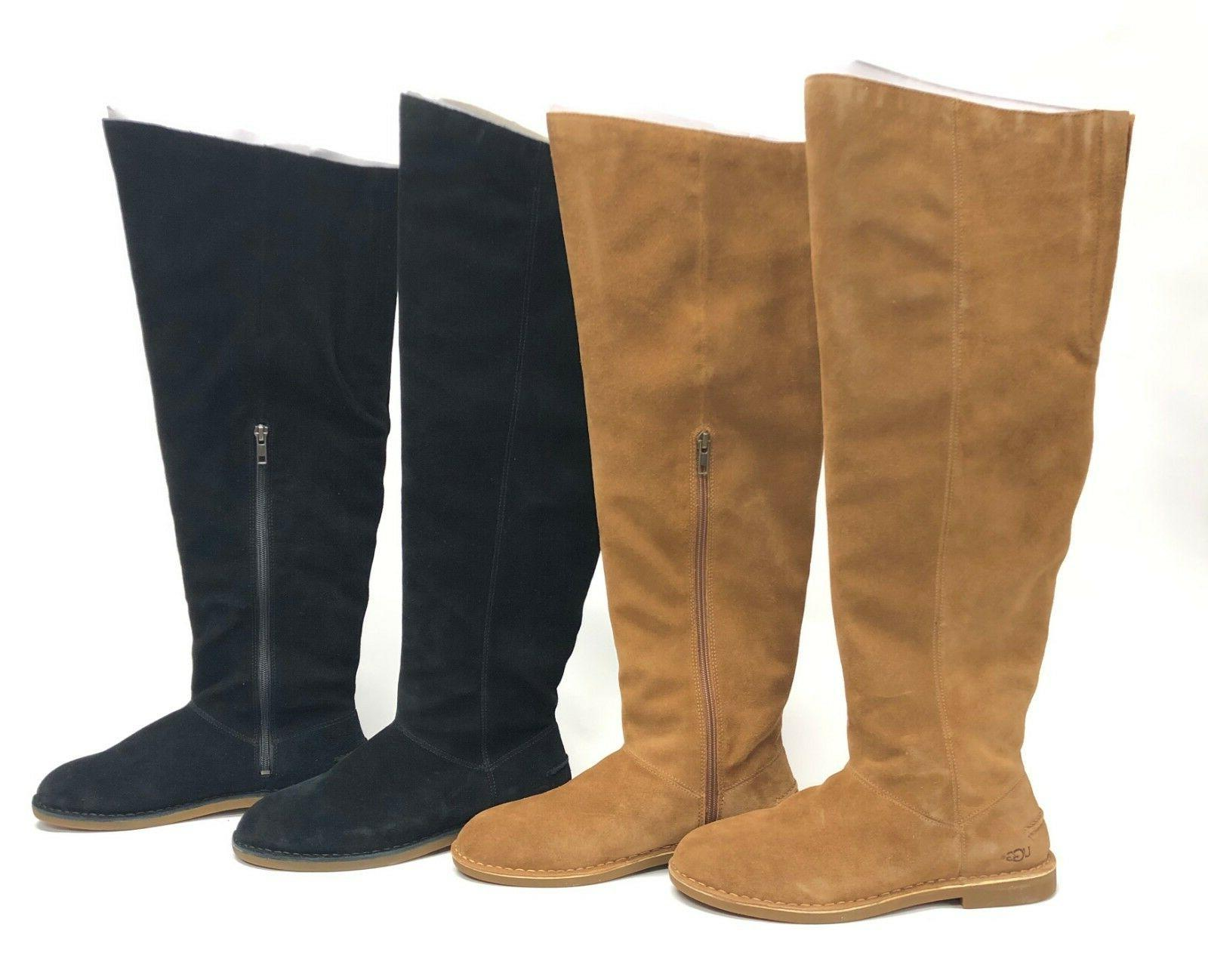 loma over the knee boot black or