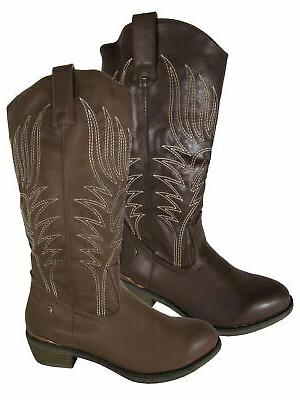 mustang womens 56143 mid calf cowgirl boots