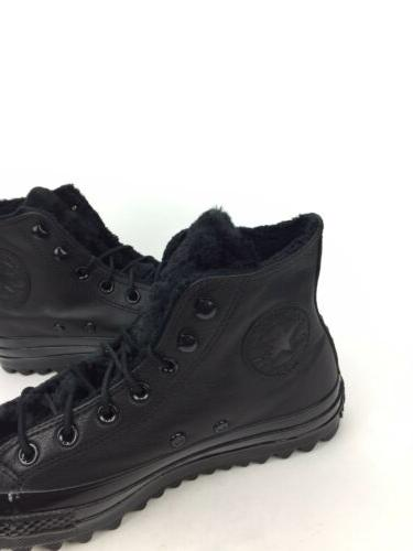 NEW All Star Lift Ripple Hi Boots Black Leather