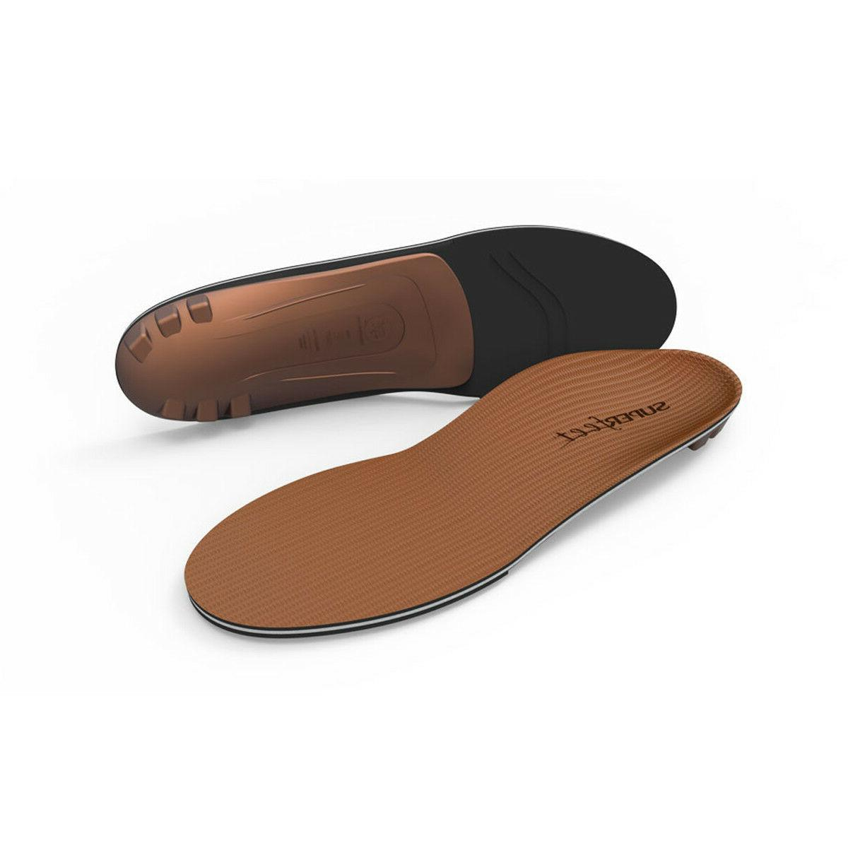 New Superfeet COPPER Arch Support Shoe Inserts Insoles Sizes