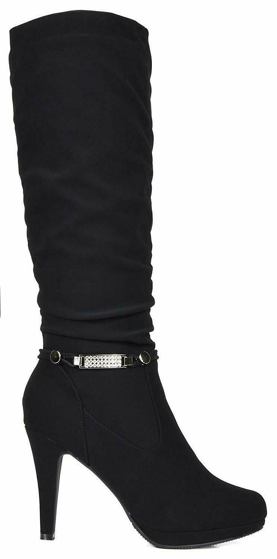 DREAM PAIRS Womens SARAH New Fashion Soft Platform Knee High
