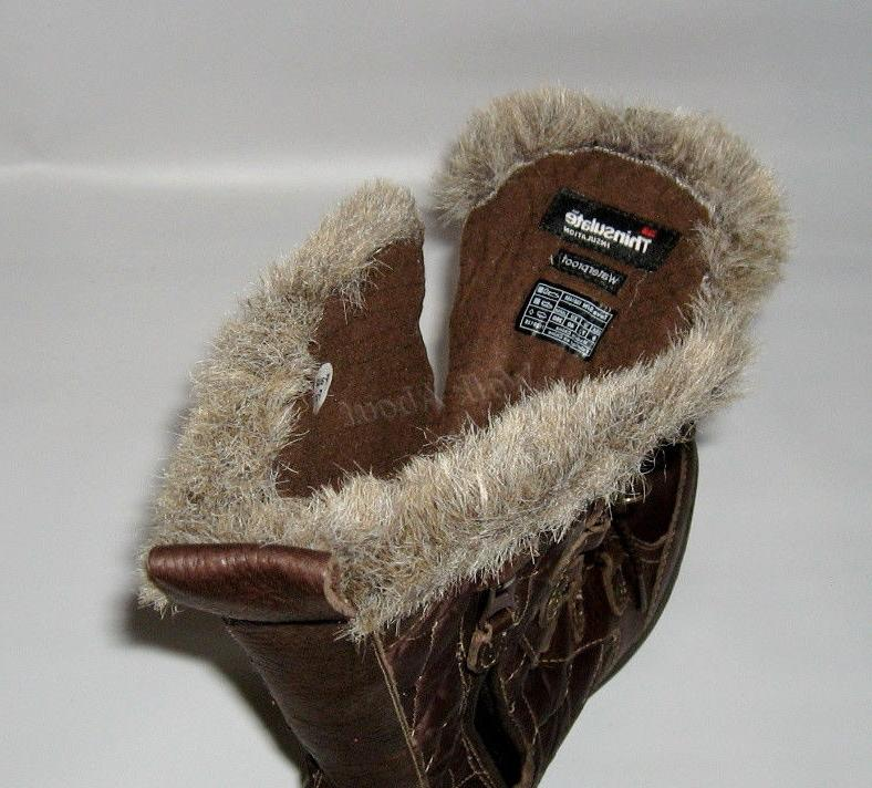 NEW BROWN WINTER BOOTS SIZE 9