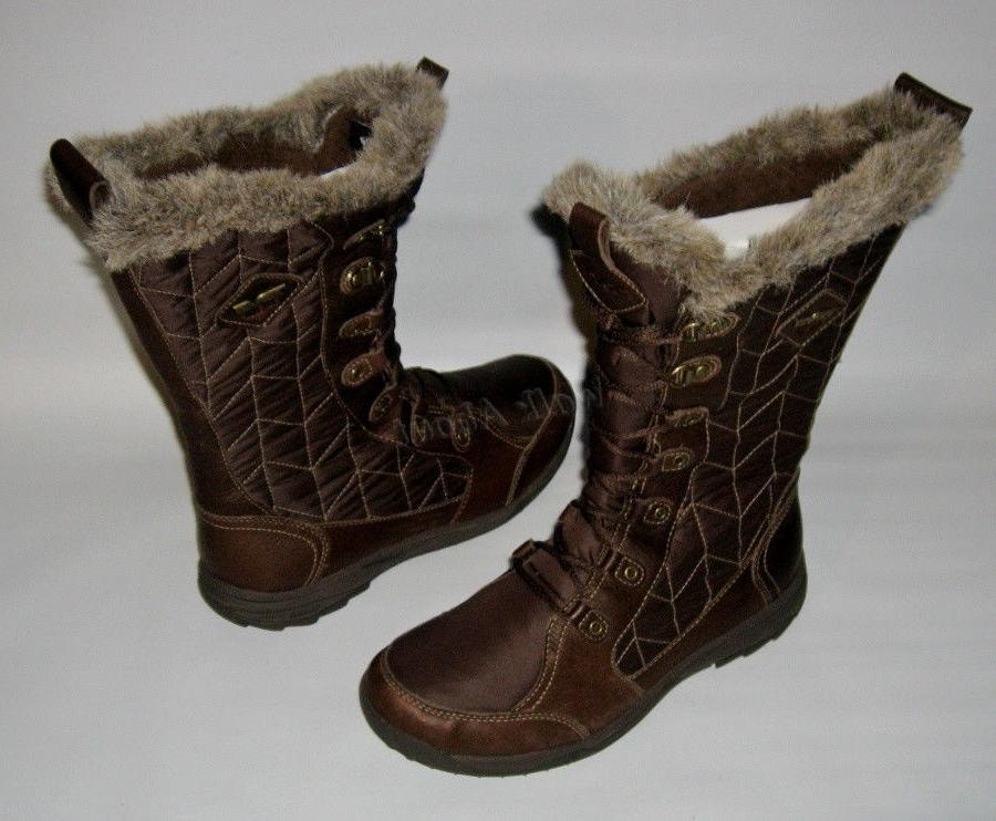 brand new lenawee waterproof brown winter boots