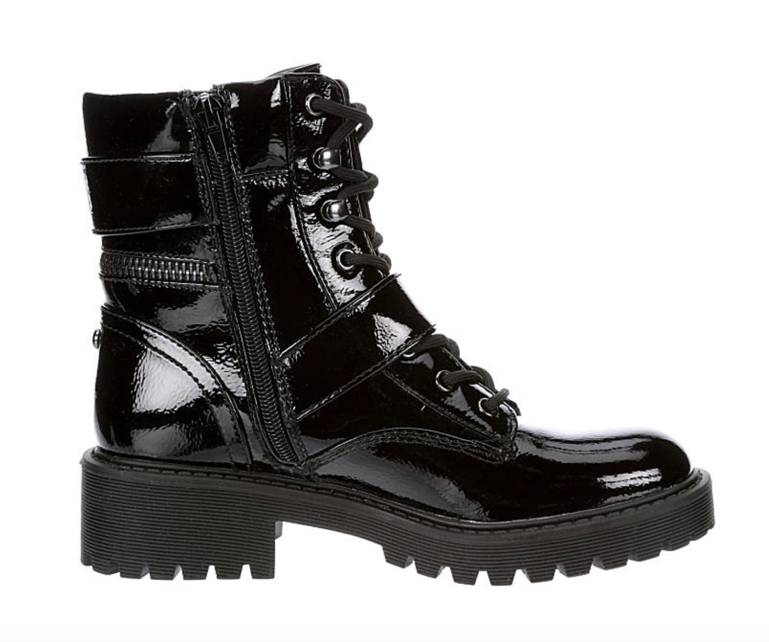New Patent Slayder Womens Boots adjustable buckles Black 6