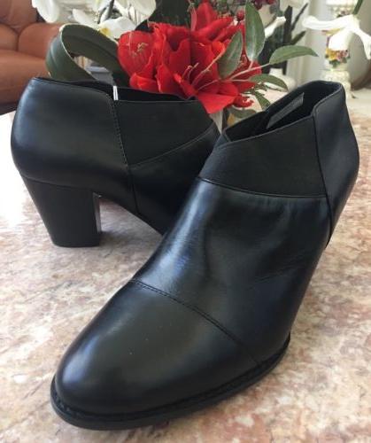 new point women s black leather slip