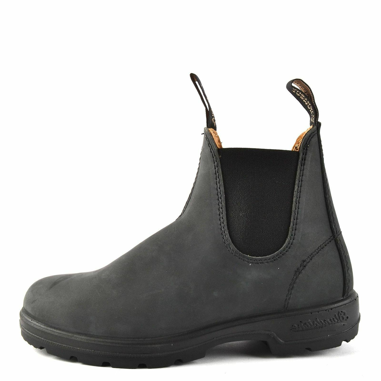 new style 587 rustic black leather boots