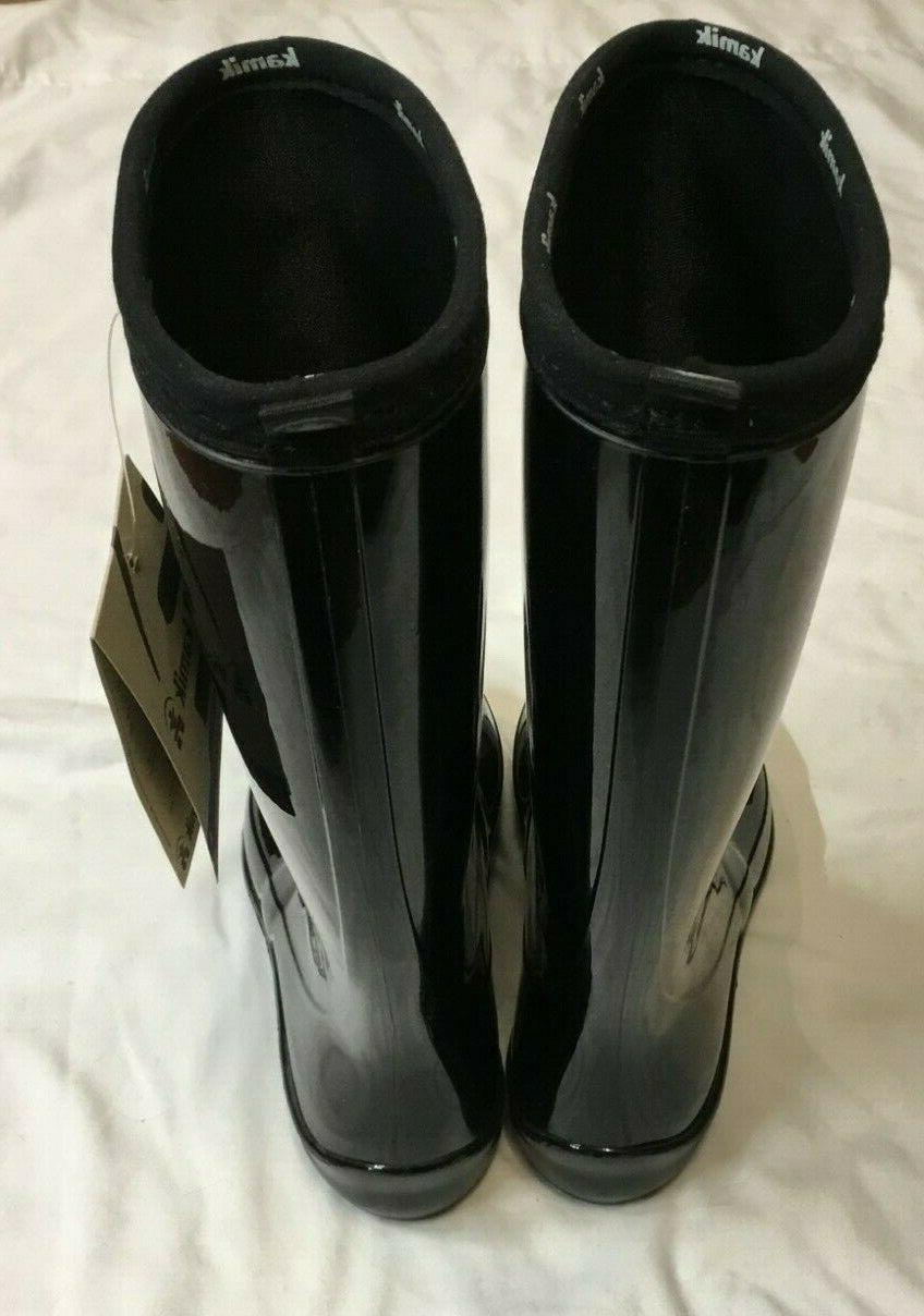 NEW Womens Shiny WATERPROOF Rain Boots Size