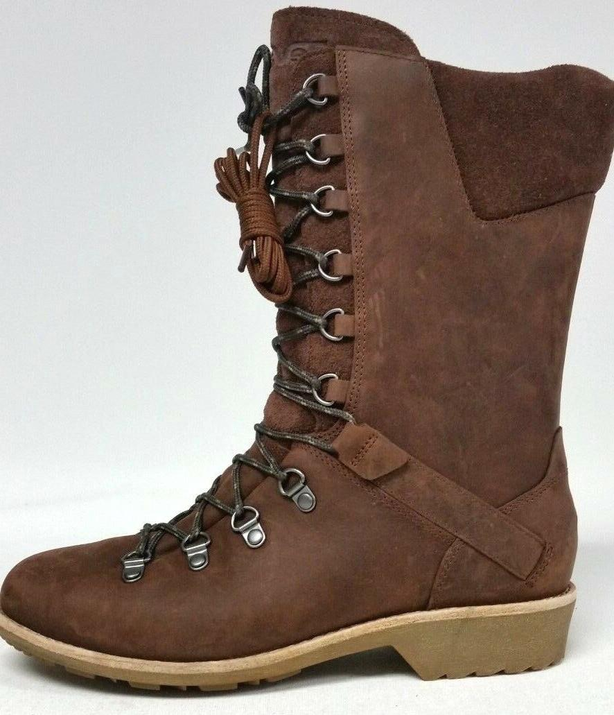 New Women's Teva DeLaVina Lace Up Boots - Size 7 - Brunette