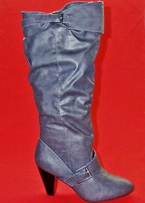 NEW Women's RAMPAGE ELDI Gray Knee High Heels Fashion Tall D