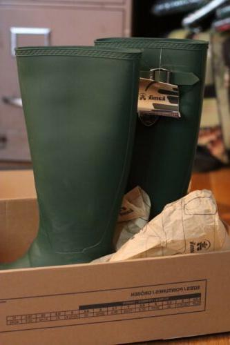 Rain Size Green Knee Wader Shoes