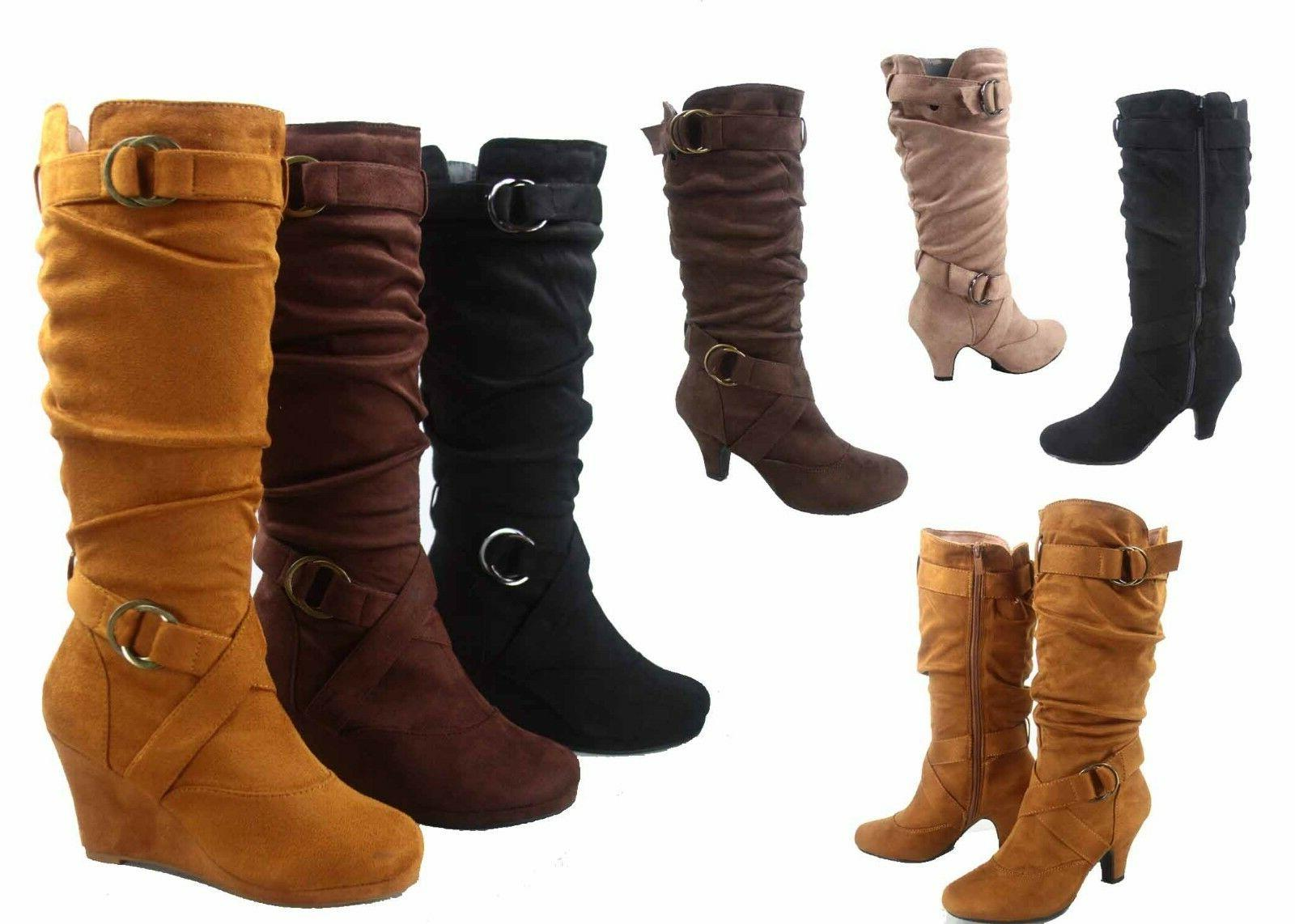 womens low heel slouch boots