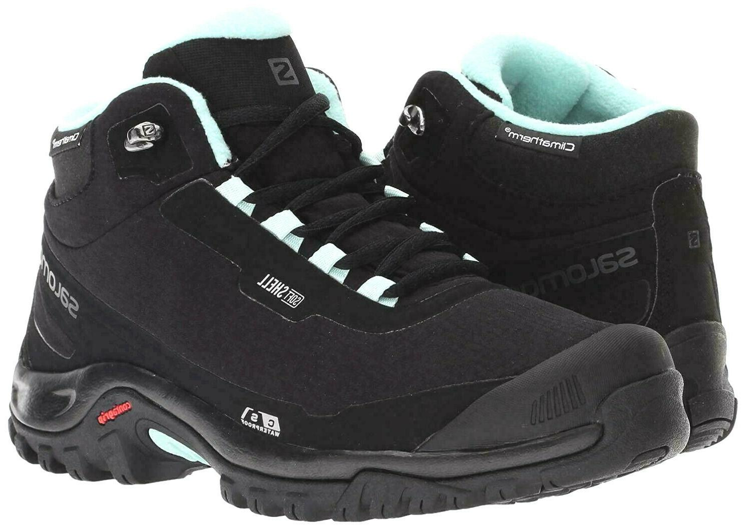 New Salomon Women/'s Shelter CS WP Waterproof Hiking Boots Size 10 Black # 376873