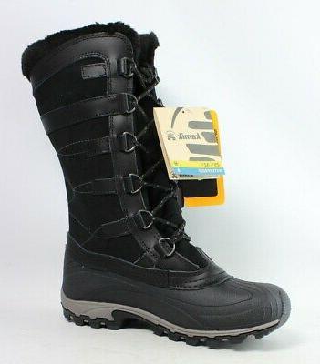 New Womens Citadel Black Snow Boots 7