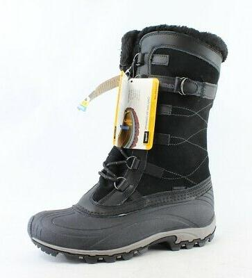 womens citadel black snow boots size 9