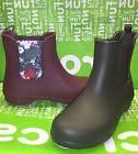 NEW Crocs Womens Plum or Espresso rain boots booties - size