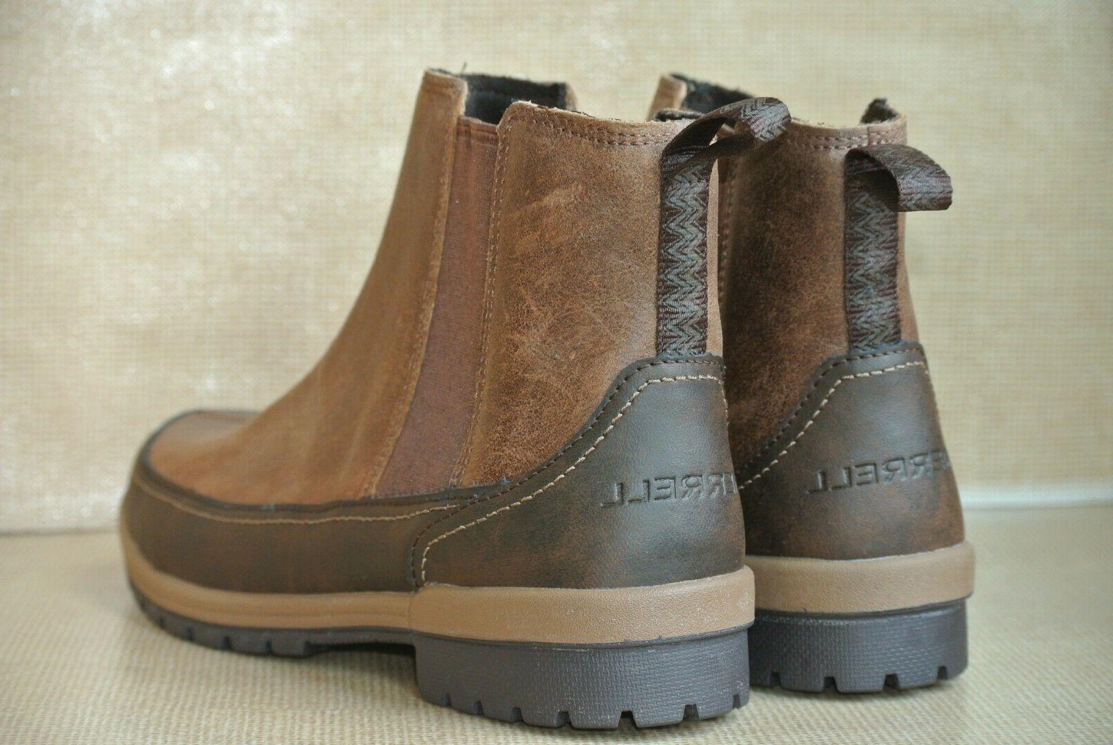 NEW 9.5 M Leather Winter Ankle Boots