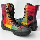 New CONVERSE WOOLRICH Chuck Taylor Rainbow Plaid High Rise B