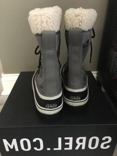 NIB Sorel Women's Carnival Snow Boot 8.5 Quarry Black