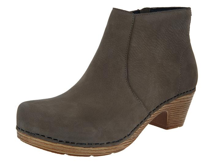 Dansko Nubuck Leather Ankle Boots - Maria Taupe Women's EU42