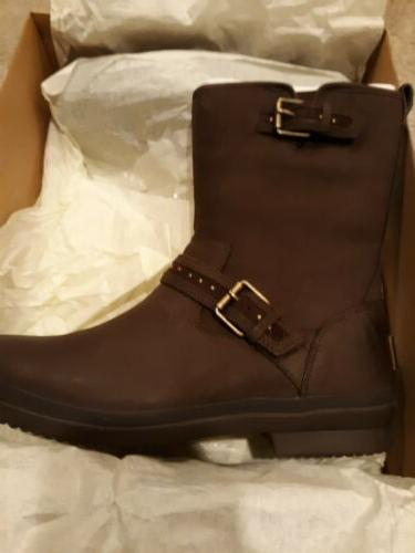 NWT 11 Leather Waterproof Side-zip Boots -