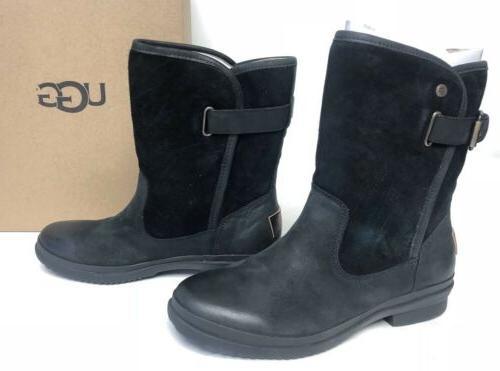 UGG Australia OREN WATERPROOF WOMEN'S SHORT BOOTS Black size