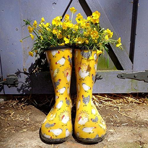 Sloggers Women's Rain and Garden Boot with Comfort Insole, Yellow, Size 5016CDY09